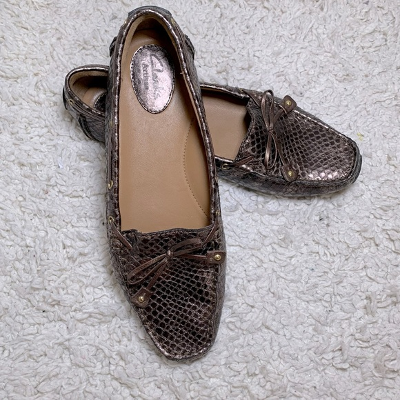 Clarks Shoes - Clarks Faux Brown Snake Skin Shoes